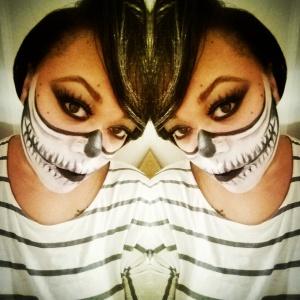 skelton makeup